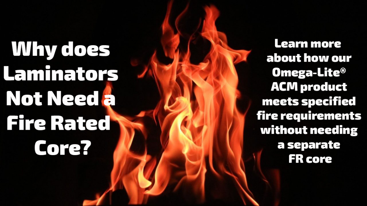 Why does Laminators not need a fire rated core?